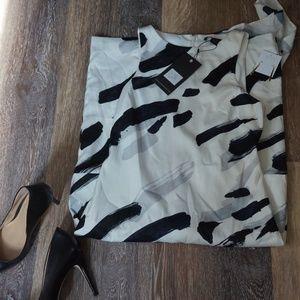 Shift Dress- Black/White/Grey (Alpha)